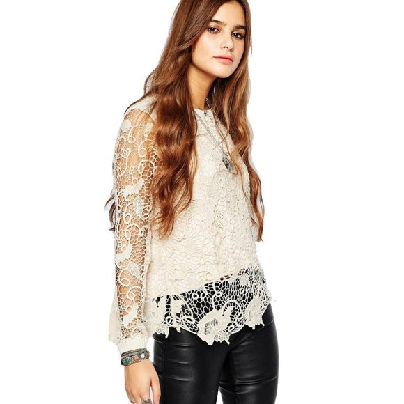 NEW FREE PEOPLE Sz M SO SOFT RIBBED KNIT SPECKLED SWEATER LEGGING In IVORY